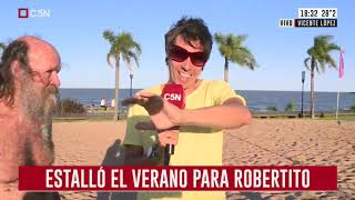 Estalló el verano para Robertito
