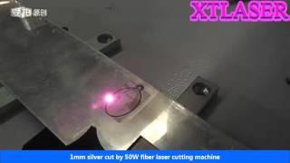 1mm Silver Cut By 50W Fiber Laser Marking Machine