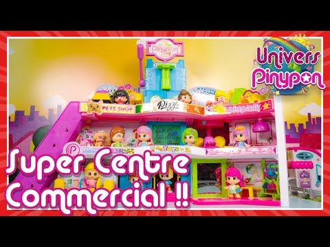 Le nouveau centre commercial Pinypon ouvre ses portes: il y a plein de magasins  dcouvrir !