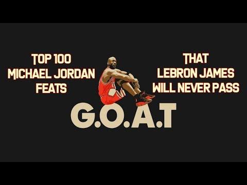 Top 100 Michael Jordan feats that LeBron James will NEVER pass!! #MichaelJordanGOAT