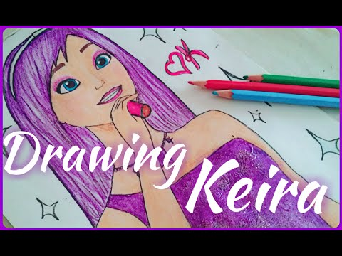 How to draw Keira/Princess and popstar/Как нарисовать Кейру/ПРИНЦЕССА И ПОП ЗВЕЗДА