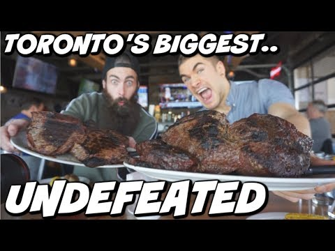 TORONTO'S BIGGEST STEAK CHALLENGE   WITH BEARDMEATSFOOD   Undefeated Food Challenge   Man Vs Food