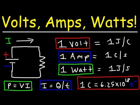 Volts, Amps, & Watts Explained!