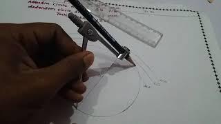 Involute profile of gear drawing