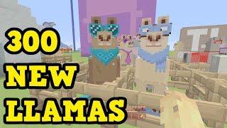 Minecraft TU54 - 300 NEW LLAMAS (All Llamas All Textures)