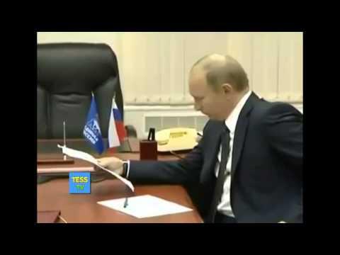Путин рвет документы! Шок ! Это надо видеть!
