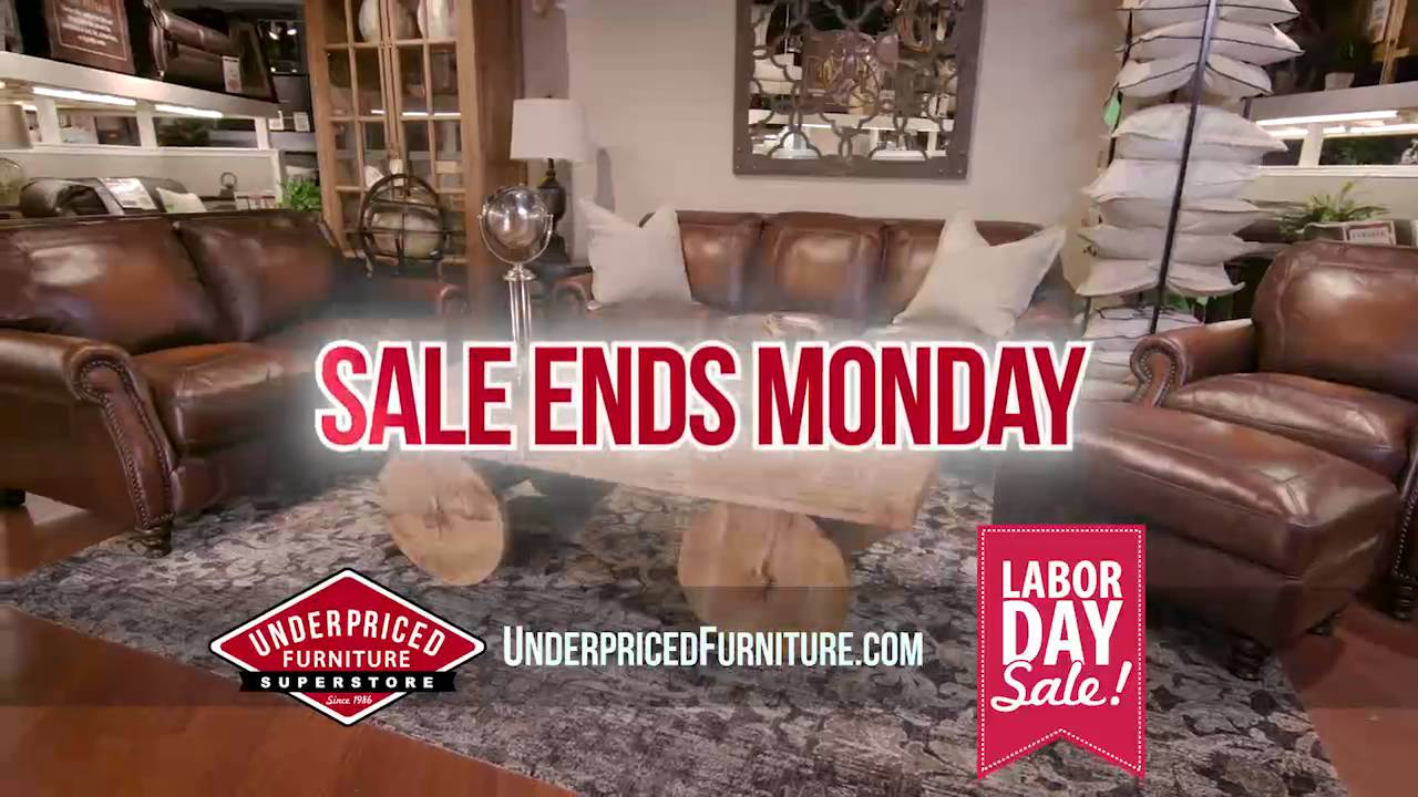Labor day sale at underpriced furniture youtube for Labor day sale furniture
