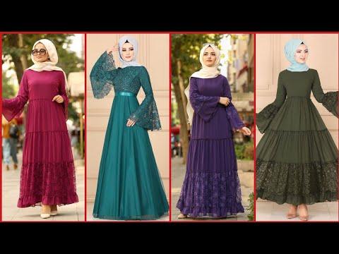 Gorgeous And Fabulous Stylish Long Hijab Fashion Dresses /Turkey /Istanbul Fashion Dresses