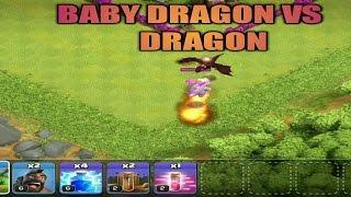 Baby Dragon VS Dragon | Clash Of Clans | 2017