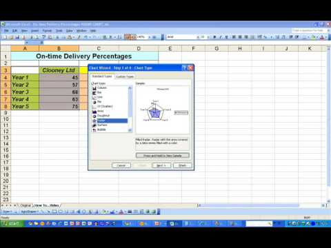 How toDraw a Polar Diagram in Excel 2003  YouTube