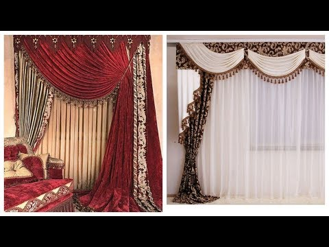 100+ Top 2020 Elegant chiffon curtains designes,,royal design