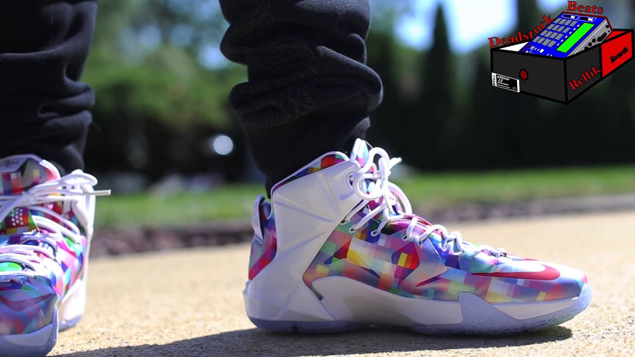 Nike Lebron 12 Finish Your Breakfast On Feet - YouTube 765366ec872c