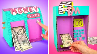 Magic Money Crafts DIY&#39s  Money Printer And Personal ATM Machine At Home