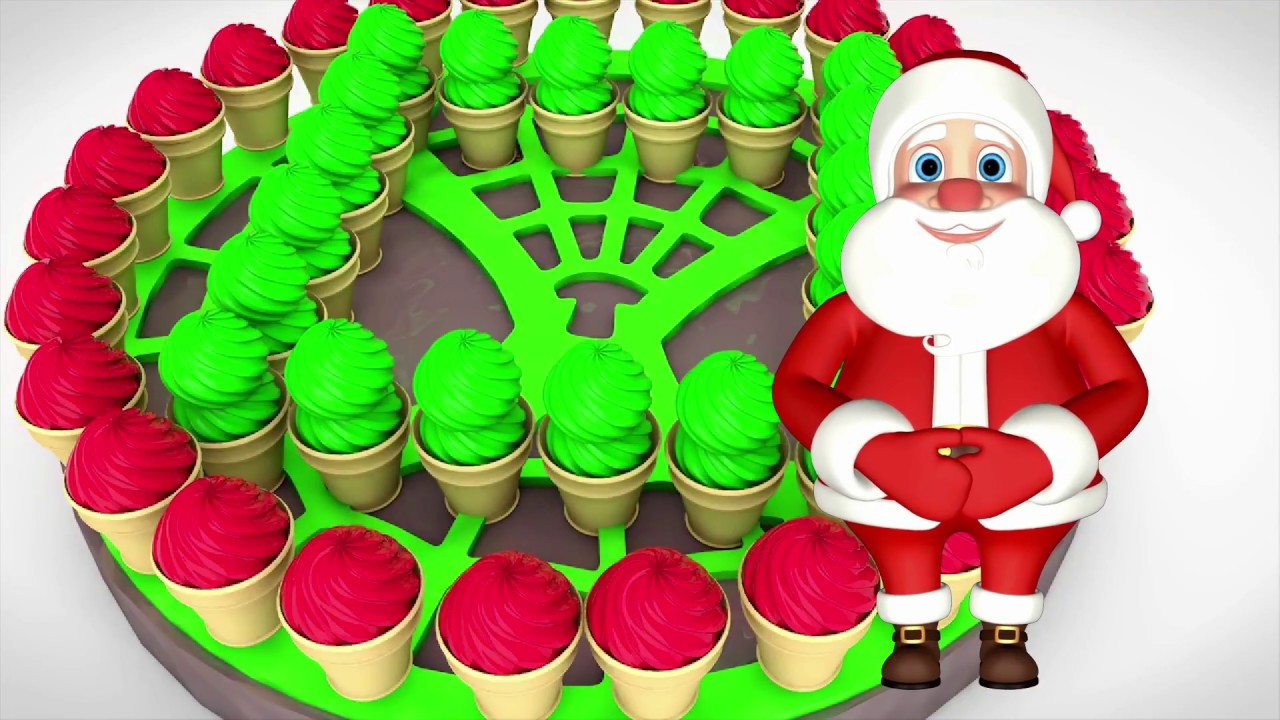 Learn Colors with Poems and Santa Claus eats ice cream - YouTube