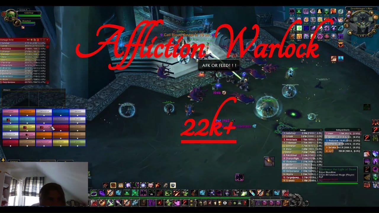 Deathbringer Saurfang 22k Affliction Warlock Dps Youtube