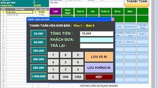 Phần mềm quản lý quán cafe,bida,karaoke giá rẽ ver 1.2