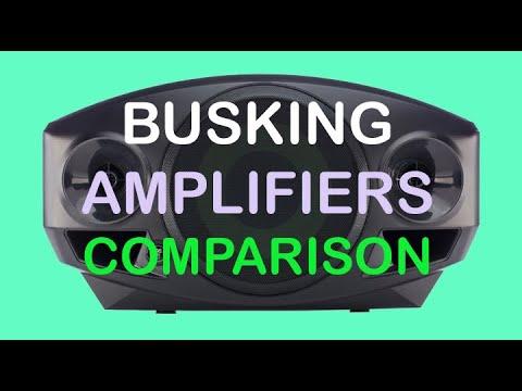 Busking Amplifiers Comparison - Roland AC-33, Samson XP40iW, XP106,Mackie Freeplay.