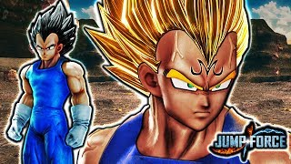 NEW MAJIN VEGETA IN JUMP FORCE! Majin Vegeta Gameplay Mod (Vegeta Buu Saga Outfit)