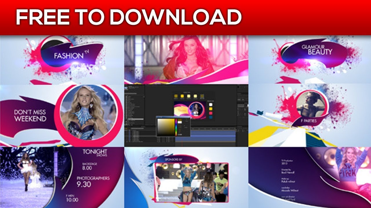 Retro Fashion Package | After Effects Template | Free Download