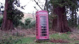 Remote Red Telephone Box Perthshire Scotland