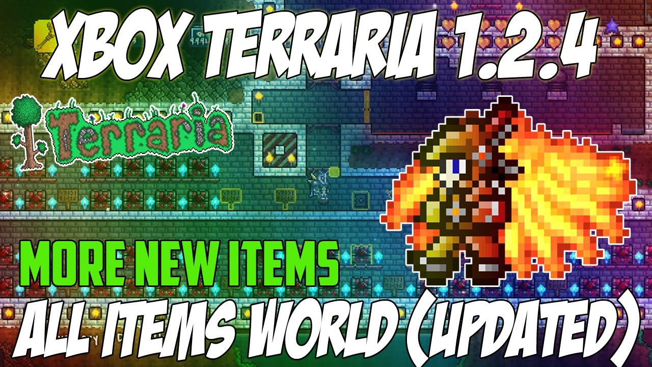 terraria xbox 1 2 4 1 disney all items map updated much more