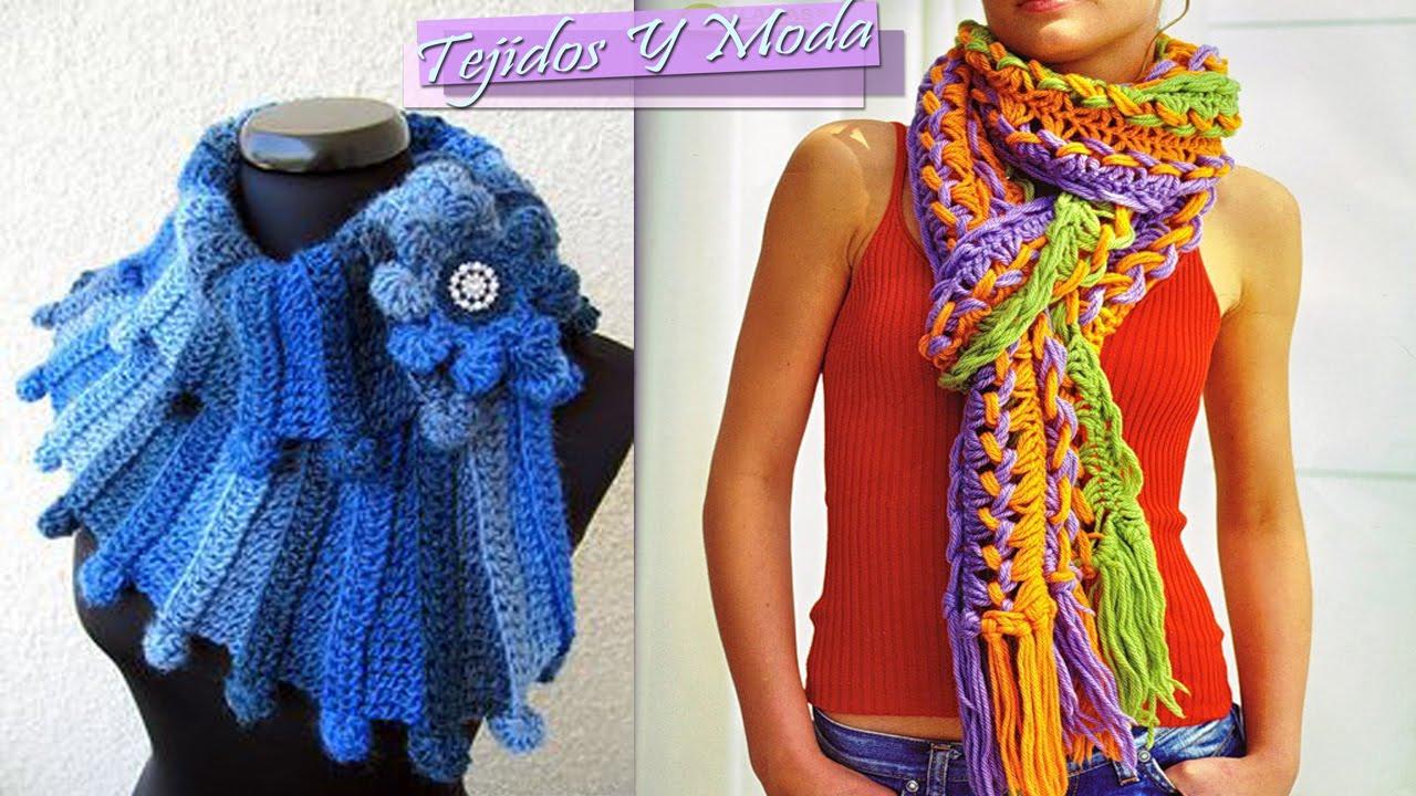 Bufanda de invierno - Tejido a Crochet - YouTube