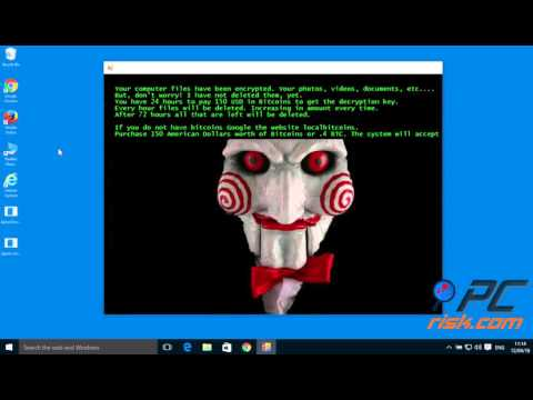 fun ransomware (Jigsaw ransomware) removal and file decryption - YouTube