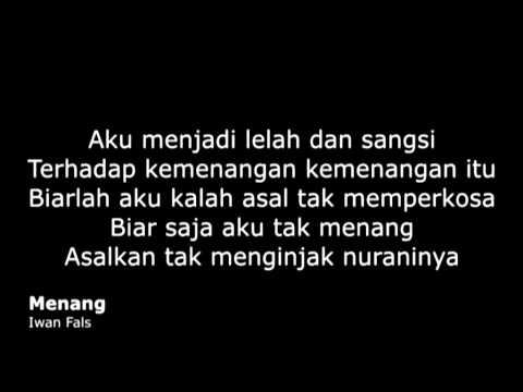 (Lirik Lagu) Iwan Fals - Menang