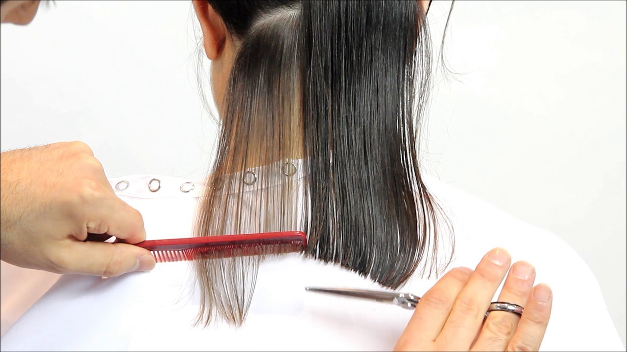 Learn How To Cut A Beautiful A Line For A Long Bob Hairstyle Short