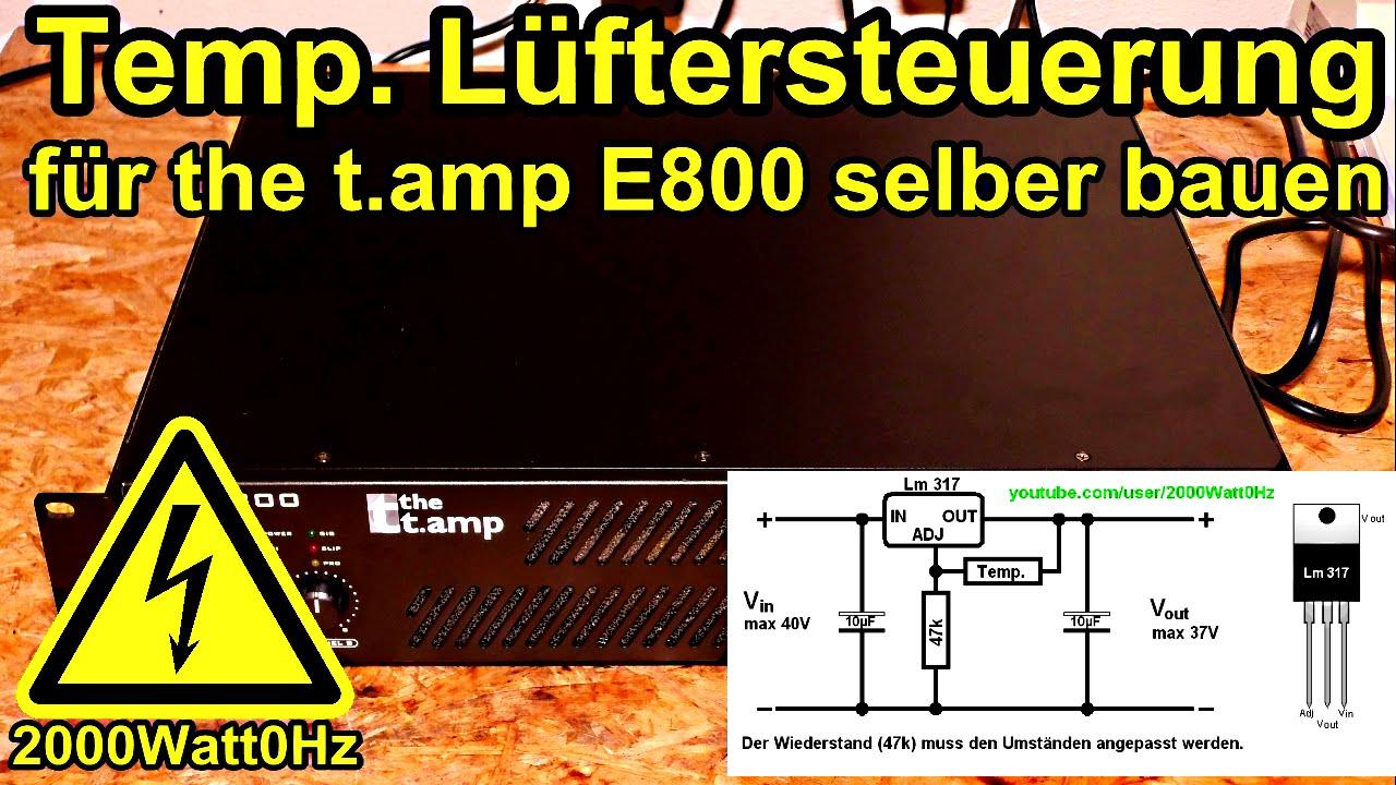 Automatische Lüftersteuerung selber bauen für The t amp E800 mit ...