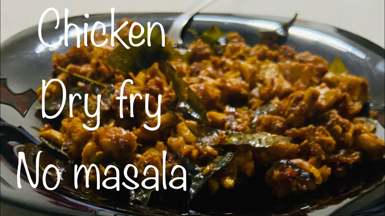 Chicken Dry Fry | chicken With Crushed Chilly |No Masala Chicken Fry