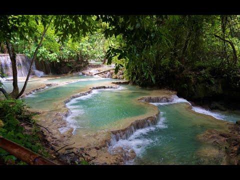 MEREMPAT DI LAOS PART 5 Kuangsi Falls, Luang Prabang