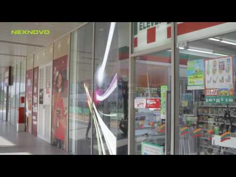 7-11 store window advertising with NEXNOVO transparent LED display