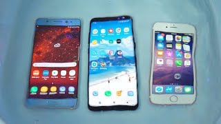 Samsung Galaxy Note FE Water Test vs S8 vs iPhone 7! (4K)
