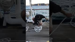 帆船で使い終わったロープでマットを作りました! スピリット・オブ・セ...