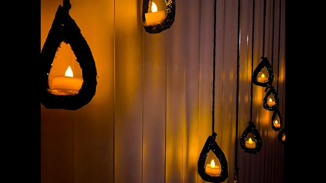 DIY Hanging Diyas|Easy diwali Decorations ideas|Add festive diyas to blinds|budget Diwali decor|DIY|