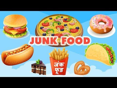 Junk Food Names Fast Food Names Junk Food Vocabulary À¤œ À¤• À¤« À¤¡ Youtube