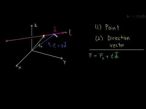 Vector and Parametric Equations of a Line (Line in 3 dimensions)