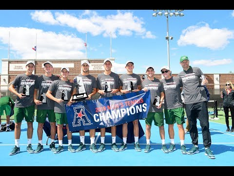 2018 American Athletic Conference Men's Tennis Championship Highlights - Tulane 4, USF 3