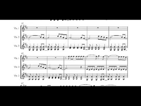 Viva La Vida Sheet music for 3 violins - YouTube
