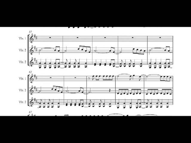 Viva La Vida Sheet Music For 3 Violins Chords Chordify