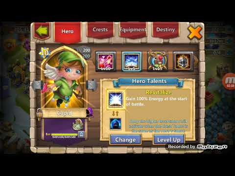 USING 94000000 XP On Cupid, And Account Review (Castle Clash)