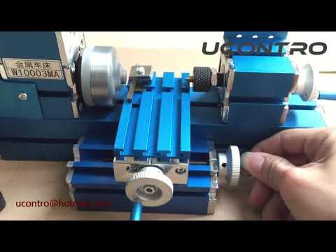 UCONTRO 12W Mini Metal Wood Turning Lathe Machine Model Tool Machinery for Education Modelmaking