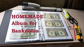 Homemade Banknotes Collection Album. Bonistics - 1 Minute Story NS