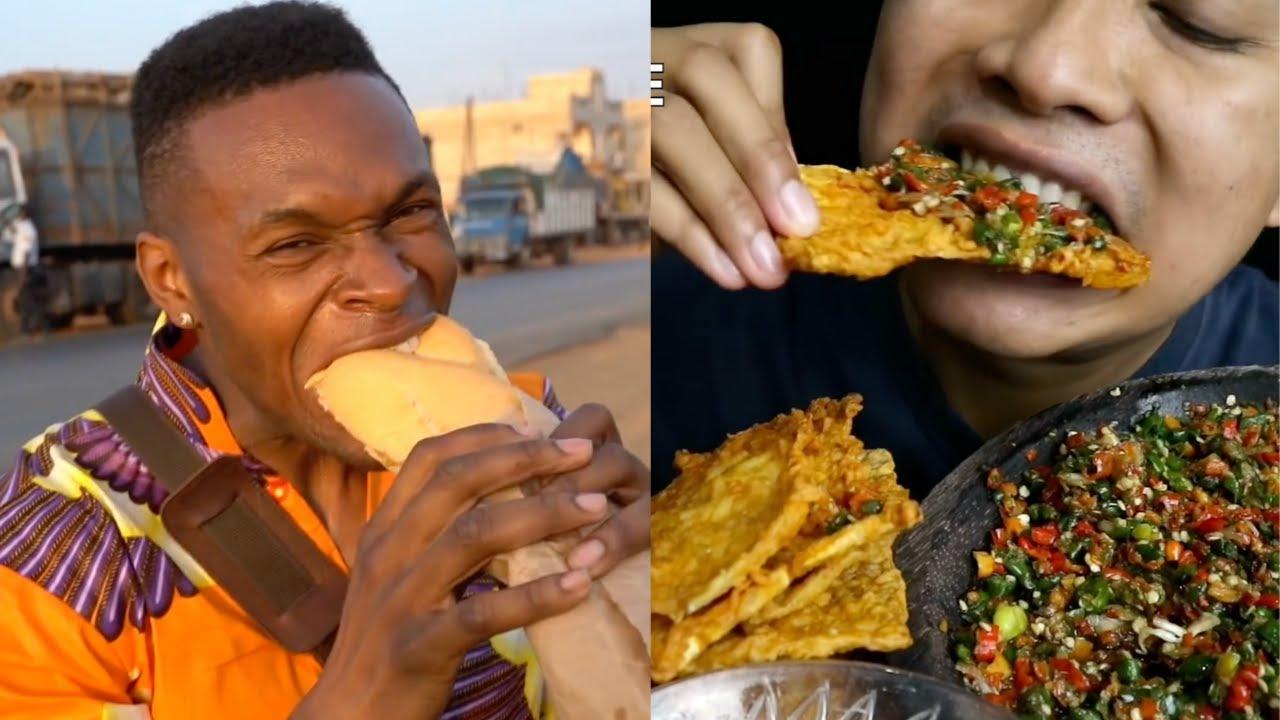 Mukbangers Eating STREET FOOD AROUND THE WORLD 🌏