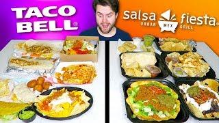 TACO BELL vs. SALSA FIESTA GRILL - Fast Food Restaurant Taste Test!