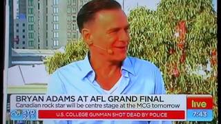 Bryan Adams interview on Sunrise Australia (2-10-2015)