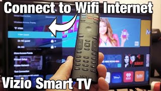 Vizio Smart Tv How To Connect To Wifi Internet Network Youtube