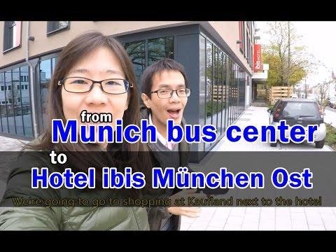 [เที่ยวยุโรป] From Munich bus center(ZOB) to Hotel ibis München Ost : Germany Travel Vlog Ep57