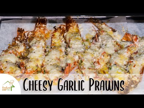 Baked Cheesy Garlic Prawns | Quick and Easy Shrimp Recipe | Homebasedchef